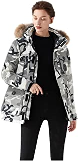 C&L DaySeventh Military Parka Down Jacket Women,Winter Long Casual Loose Thick Wind Coat 91%~95% Duck Down