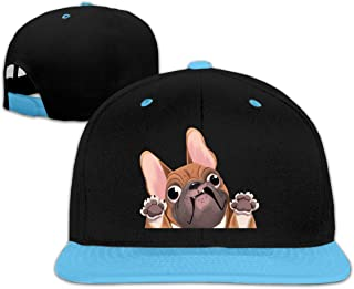 Boys and Girls French Bulldog Hip-Hop Baseball Hat, Adjustable Peaked Cap