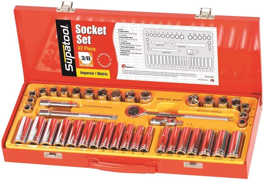 Supatool Socket Product Wrench Set - 3 Max 49% OFF 8