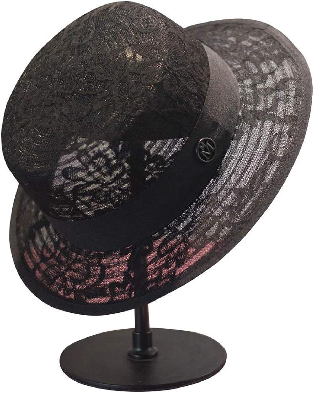 QQLL Women's Organza Church Marseille Tea Party Wedding Hat (color   Black)