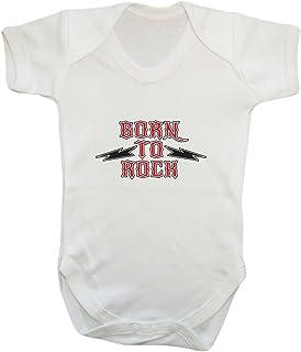 Badass Babies Born to Rock Strampler