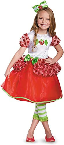 Disguise 84477L Strawberry Shortcake Deluxe Costume, Small (4-6x) by Disguise
