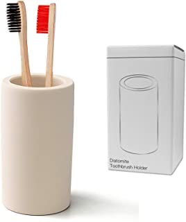 Toothbrush Holder - Office Pen Holder,Bathroom Diatomite Toothbrush Holder,Desk Pen Holder,Stand Cup to Waterproof and Abs...