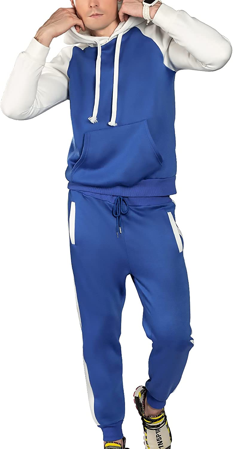 We1Fit Men's Sweatsuits Sets with Mail order Max 78% OFF Piece 2 Hoodie Long Tracksuits