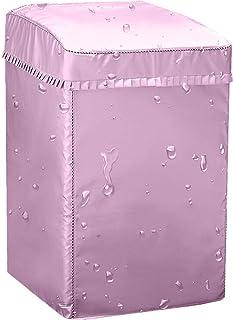 【カバー専門】Aoitori 洗濯機カバー 兼用型 耐用5年保証 老化防止 屋外 防水 防塵 防湿 紫外線遮断 日焼け止め 光耐久 過熱保護 三面包み SMLXL 全自動洗濯機適用 (ピンク, M(55*56*89㎝ 6~8KG対応))