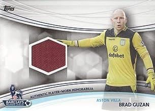 2013-14 Topps EPL Premier League Gold Soccer Jersey Relic #JR-BG Brad Guzan Aston Villa