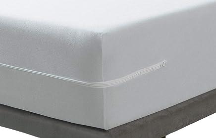 Savel, Rénove Matelas éponge Bouclette En Microfibre Bi Extensible   Blanc,  140x190/