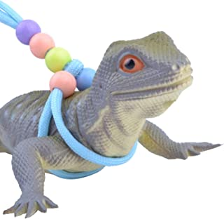 Adjustable Reptile Training Lead Harness Leash Nylon Rope Lizard Crested Gecko Chameleon Guinea Pig Ferrets Hamster Rats