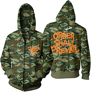 Men's Nuclear Superiority Zippered Hooded Sweatshirt Camouflage