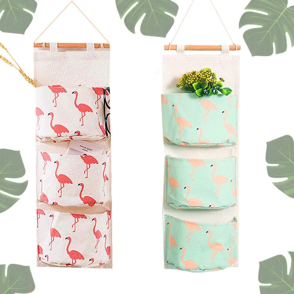 LaVenty Flamingo Hanging Max 47% OFF Storage Sh Bags Selling Shelves