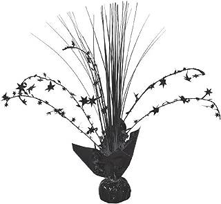 Foil Spray Centerpiece | Jet Black | Party Decor | 12 Ct.