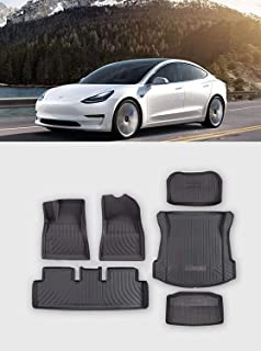 Top-Tech Automotive Floor Mats for Tesla Model 3 – All Weather Car Floor Mats, Three-Layered, Edge Protection, Odorless Ca...