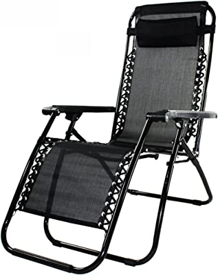 ZHIRONG Zero Gravity Recliners Folding Chair Office Chair Lunch Break Adjustable Lazy Chair Adjustable Headrest