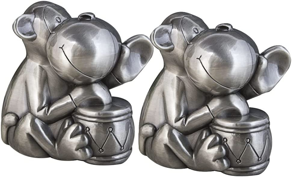 KAWQE Piggy Bank for 55% OFF Adults Cute Deluxe Vintage Drumm Pewter