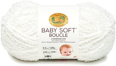 Lion Brand Yarn 918-100 Baby Soft Boucle Yarn, White
