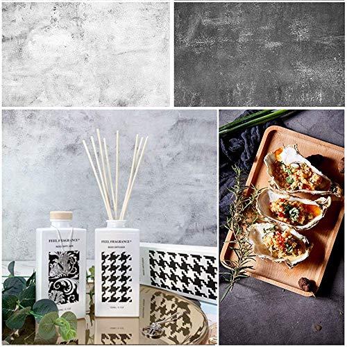 Selens 56x88cm 2 in 1 Flatlay Hintergrund Weiß Zement Desktop Fotografie Doppelseitiger Hintergründe für Gourmet Kosmetik Online Shops Produktfotografie Dessert Anzeige Poster Lebensfotos