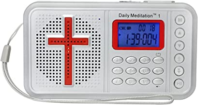 Daily Meditation 1 NKJV Audio Bible Player (Voice Only) -New King James Version Electronic Bible (with Rechargeable Battery, Charger, Ear Buds and Built-in Speaker)