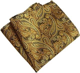 100/% soie noir jaune motif écossais carreaux Mouchoir De Poche Carré Mouchoir Mariage