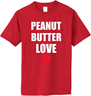 PEANUT BUTTER LOVE on Adult & Youth Cotton T-Shirt (in 44 colors)
