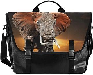Bolso de lona con diseño de elefante para hombre y mujer, estilo retro, ideal para iPad, Kindle, Samsung