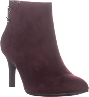 A35 Faustt Heeled Ankle Boots, Malbec Burgundy Suede
