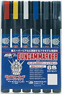 Gundam Marker GMS114 Gundam Seed Destiny Pen Set 6 Gunpla Marquers GSI CREOS