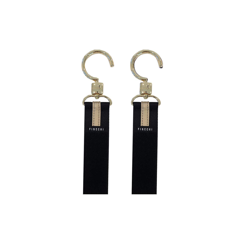 FINECHI Stroller Hooks/Straps (Premium Metal) (Gold)