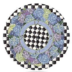 Lexington Studio Blue Hydrangea Round Clock, 10