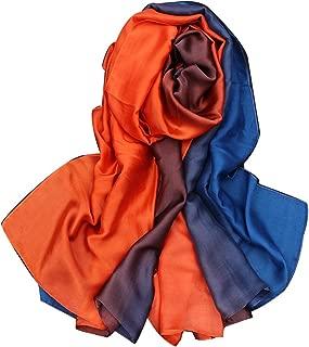TDRFORCE Women Scarf Oversized Gradient Satin Silk Shawl Wrap Scarves Muffler Stole