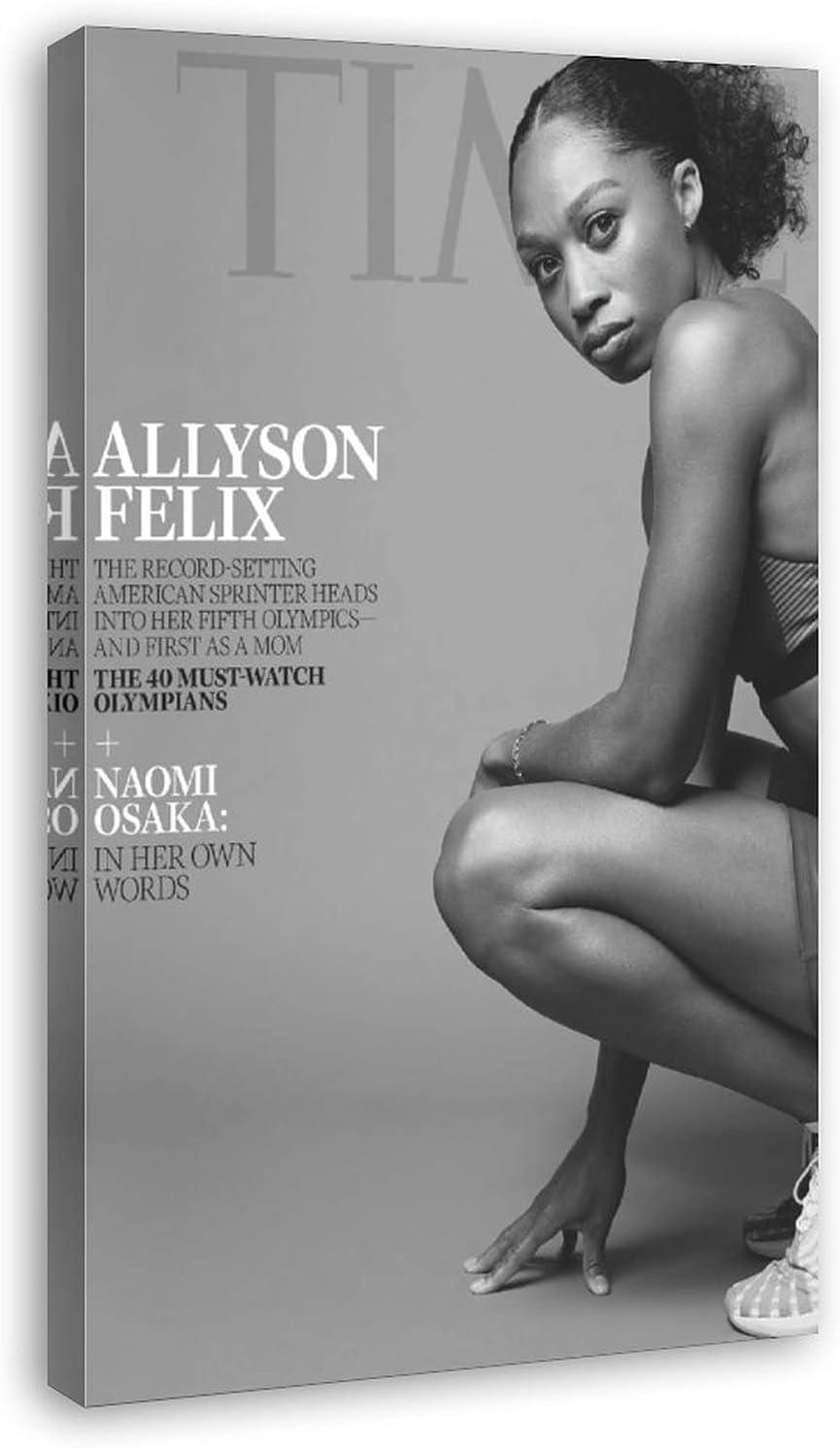 Allyson Felix Attention brand Poster Time Canvas Wa Cover Magazine Max 65% OFF