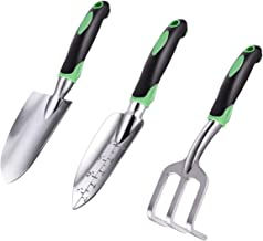 ZUZUAN Garden Tool Set, 3 Pack Garden Hand Shovels Aluminum Alloy Garden Trowels with Ergonomic Rubberized Non-Slip Grip, ...