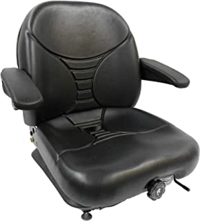 Milsco Highback Suspension Seat with Arm Rests - Black, Model Number V-5300