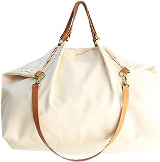 Borsone da viaggio, borsa da viaggio, Weekend bag, borsa in tela e cuoio, in tessuto IDROREPELLENTE beige. Weekender perso...