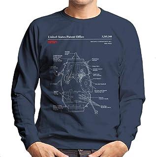 NASA Russian Docking Compartment Blueprint Men's Sweatshirt