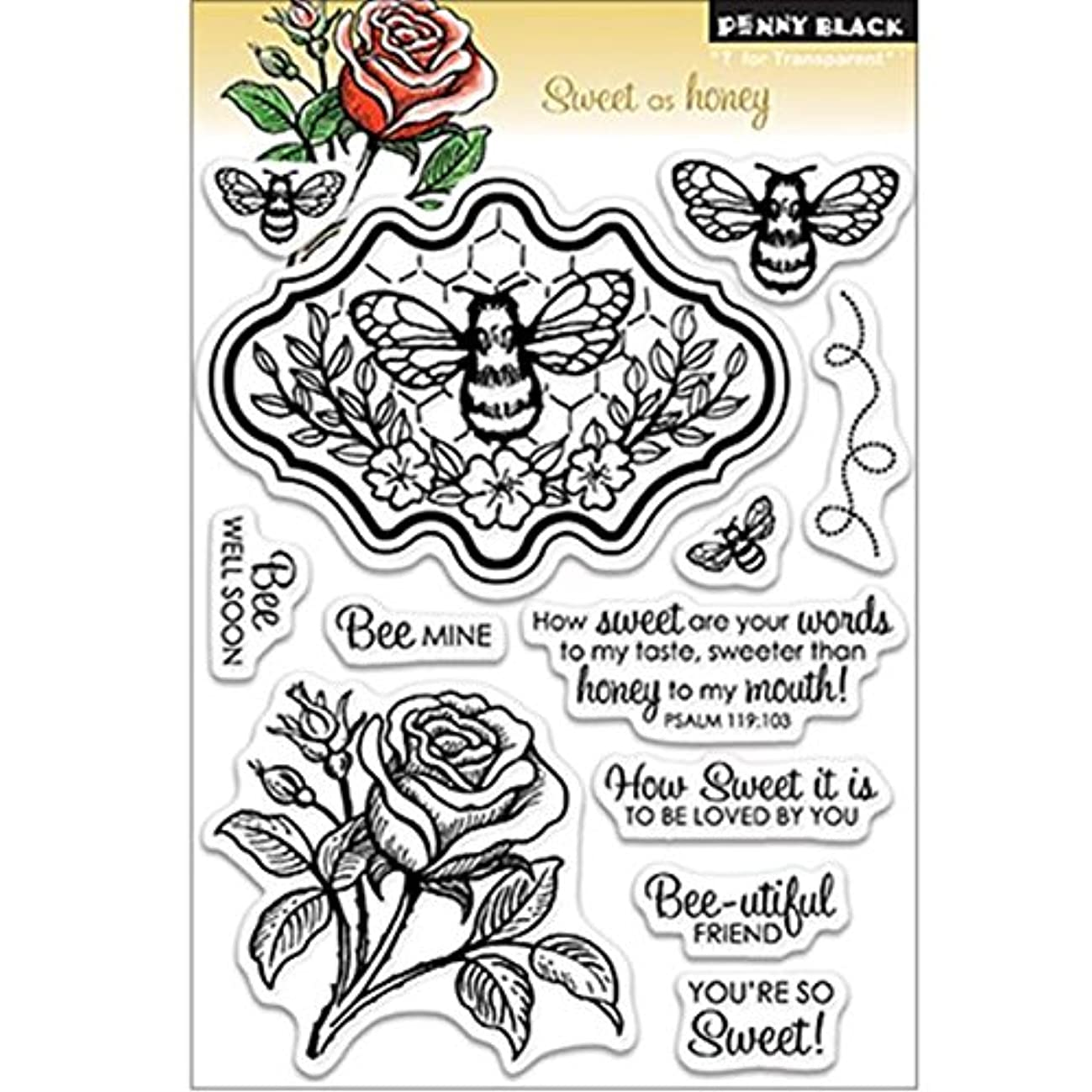 Penny Black 30-145 Clear Stamp, Sweet as Honey