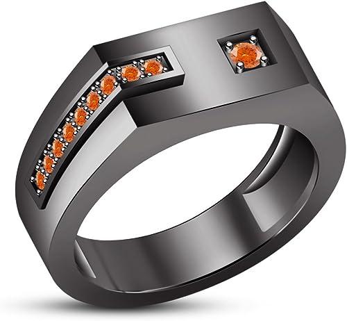 Vorra Fashion 925-Sterling-Silber Herren-Ring, rund, sim-diamond