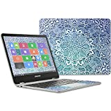 MightySkins Skin Compatible with Samsung Chromebook Plus 12.3'(2017 - Carved Blue   Protective, Durable, and Unique Vinyl Decal wrap Cover   Easy to Apply, Remove, and Change Styles   Made in The USA