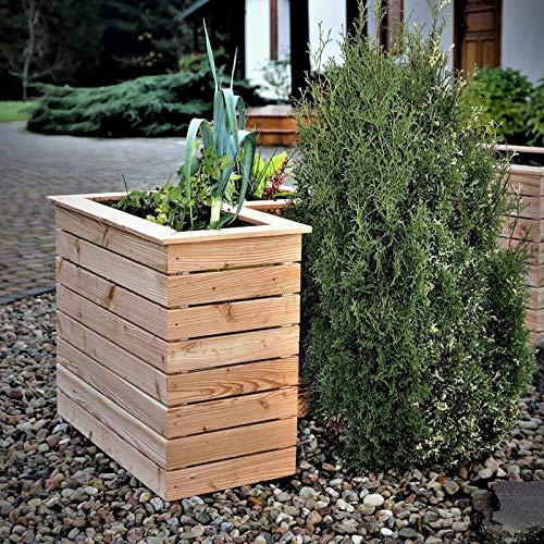 Hori® Hochbeet Lärche Holz Gemüsebeet Blumenkasten Pflanzenkübel I Modell: 14 Rabia