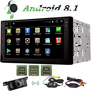 Android 8.1 Car GPS Navigation Double Din Car Stereo Octa Core 2 Din AM FM RDS Radio..