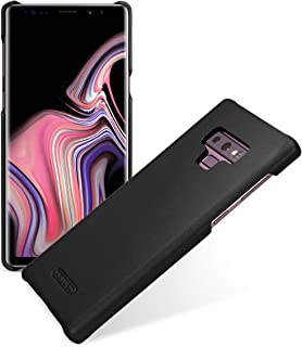 TETDED Premium Leather Case for Samsung Galaxy Note 9, Snap Cover (Nappa Black)