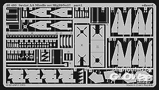 Eduard Accessories–48435Model-Making Accessory Set Mig 29/Su 27Soviet AA Missile