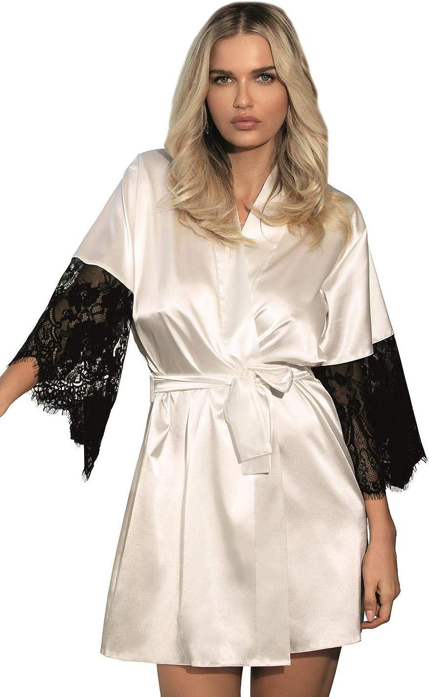 DKaren Women Dagmara Soft Light Ecru Dressing Gown