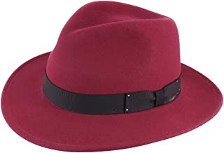 Bailey Of Hollywood Curtis Wool Felt Fedora Hat Packable Water Repellent