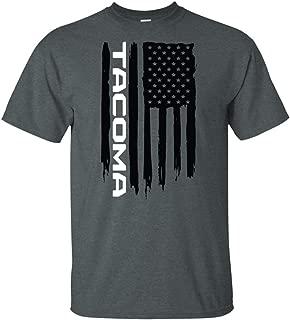 Wheel Spin Addict Men's Tacoma PreRunner American Flag T-Shirt