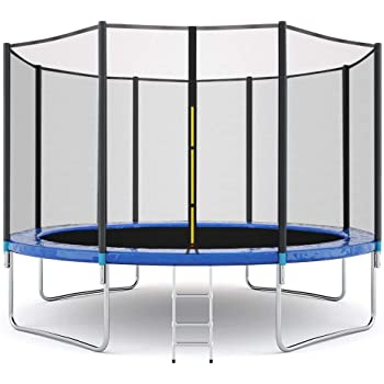 GreatGiftList 12 FT Trampoline Combo Bounce Jump Outdoor Trampoline for Family School Entertainment with/Safety Enclosure Net Spring Pad Ladder