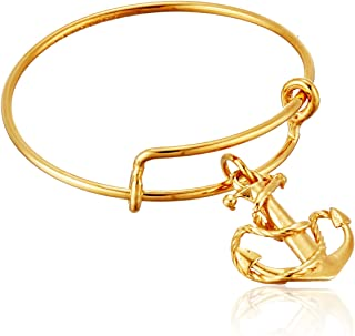 Expandable Wire Ring, Anchor, 14k Stackable Ring, Size 7-9