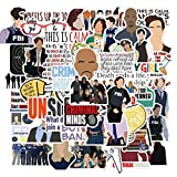50Pcs TV Show Criminal Minds Cartoon Stickers for Laptop Motorcycle Luggage Phone Guitar Skateboard Cool Decals Sticker Kids Toys