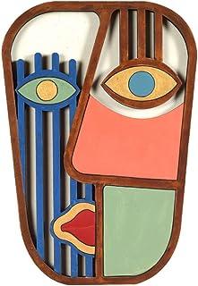 Tiki Mask Abstract Wall Decor Wooden Face
