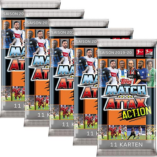 CAGO Topps Match Attax Action 2019/20 - 5 Booster