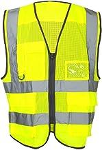 Freedom Reflective Multi Pocket Vest, Hi Vis Yellow